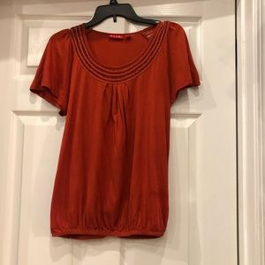 Elle Top pleated front size Large